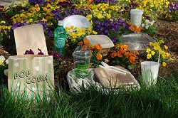 Compostable and biodegradable foodservice packaging
