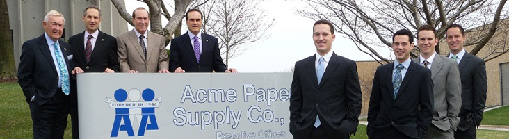 Three generations of the Attman family are actively involved in the management of Acme Paper.